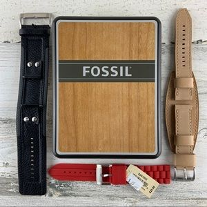 FOSSIL Watch Bands (3) Set NEW